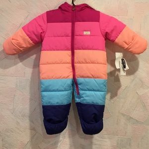 NWT OshKosh B'gosh Rainbow Snowsuit Sz 6/9 Months